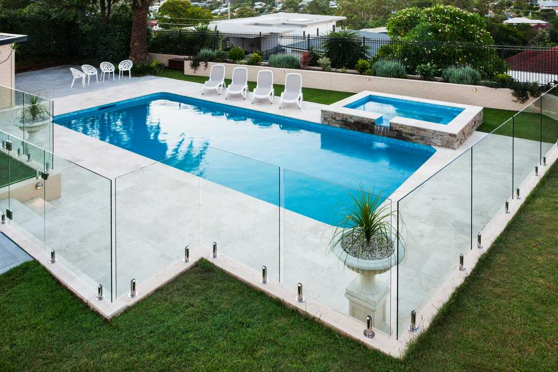 hornsby nsw frameless glass swimming pool fence
